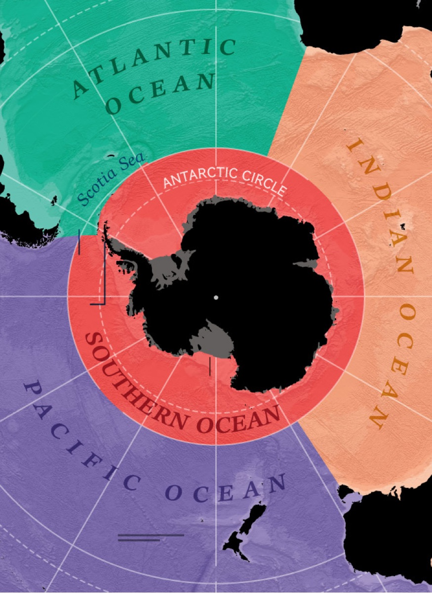 The peculiarities of the Southern Ocean
