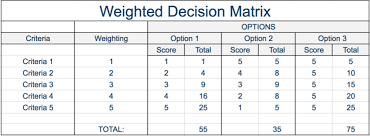 Decision Matrix Analysis