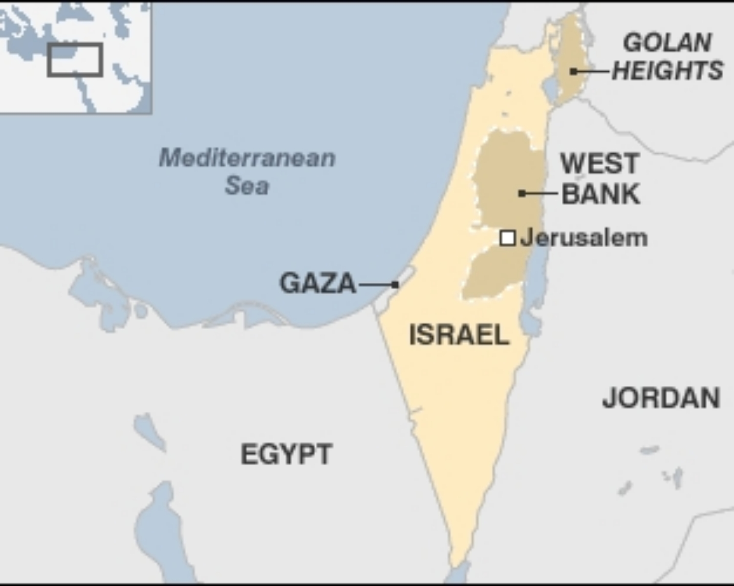What are Israel and Palestine?