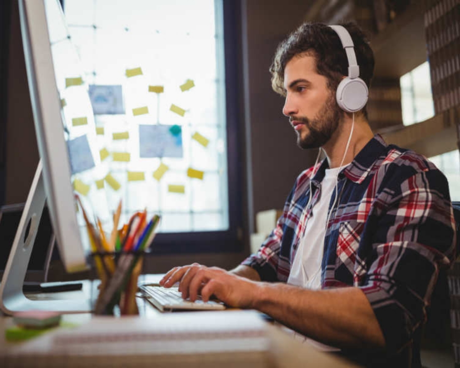 11) Listen to music while you work.